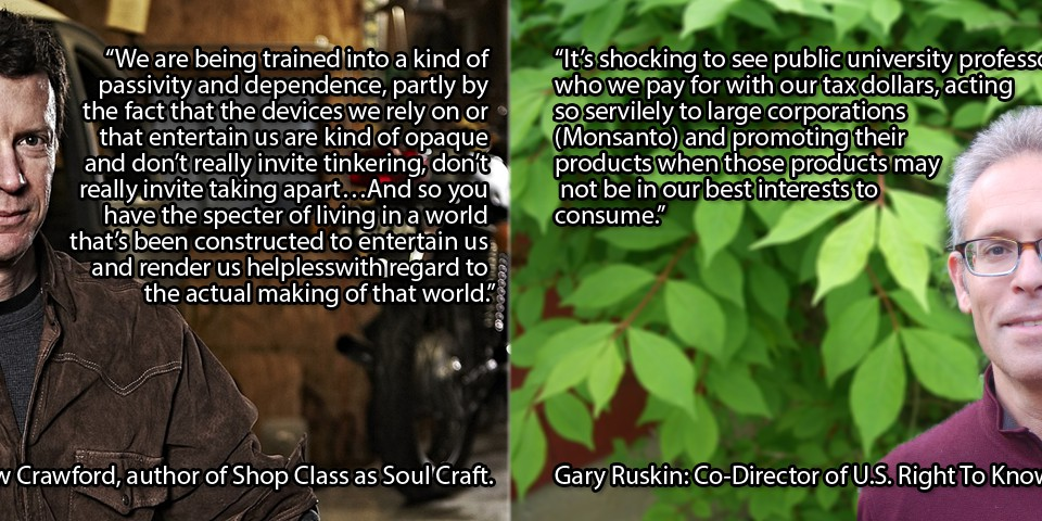 Matthew Crawford, Gary Ruskin