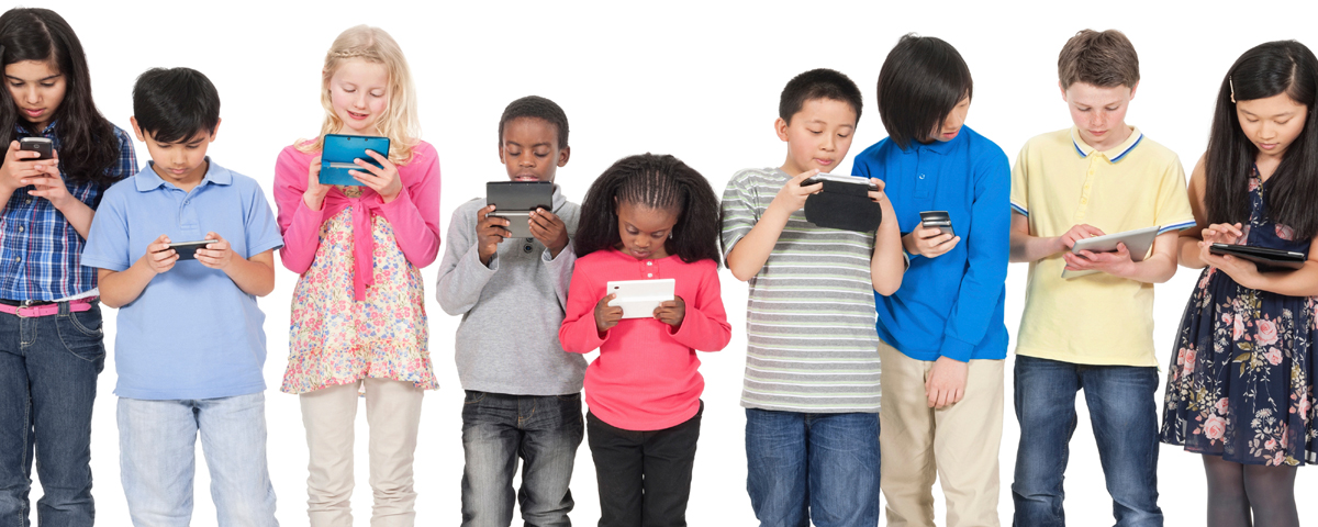 kids with technology